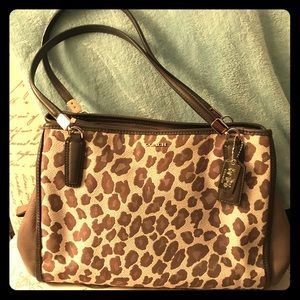 Coach Purse - Leopard print